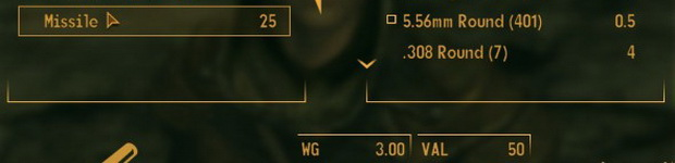 Вес боеприпасов