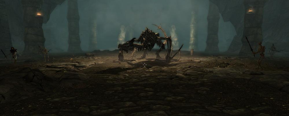 Оживший скелет дракона