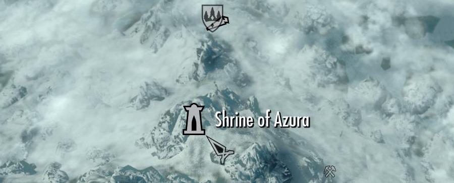 Святилище Азуры на карте