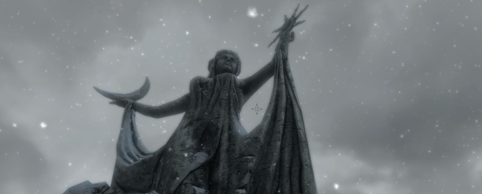 Статуя Азуры в святилище