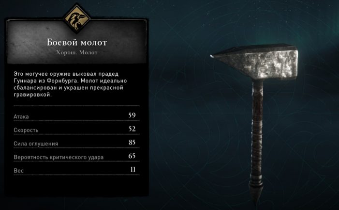 Боевой молот в Assassin's Creed: Valhalla