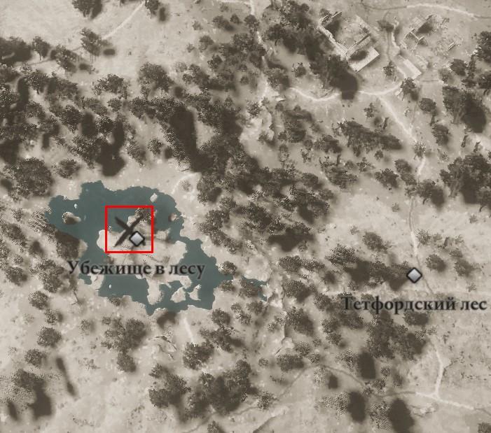 Местонахождение Длинного меча Каролингов на карте мира Assassin's Creed: Valhalla