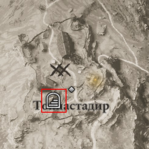 Местонахождение шлема Охотника на карте мира Assassin's Creed: Valhalla