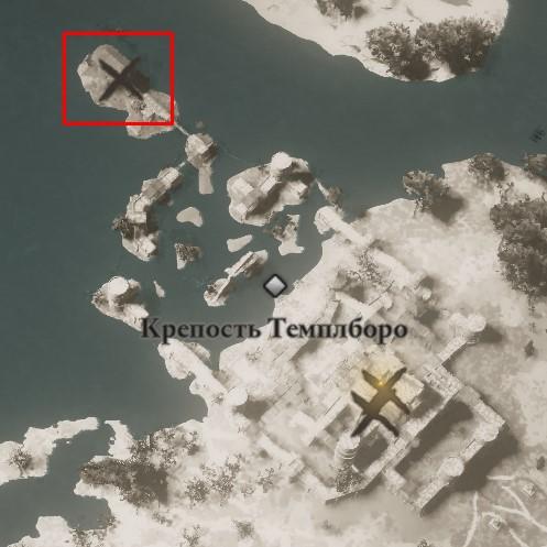 Местонахождение плаща Охотника на карте мира Assassin's Creed: Valhalla