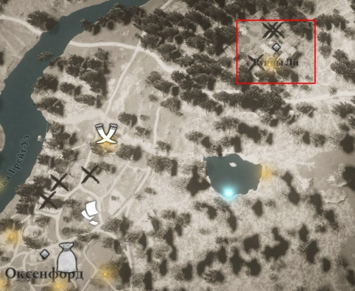 Местонахождение одежды Магистра на карте мира Assassin's Creed: Valhalla