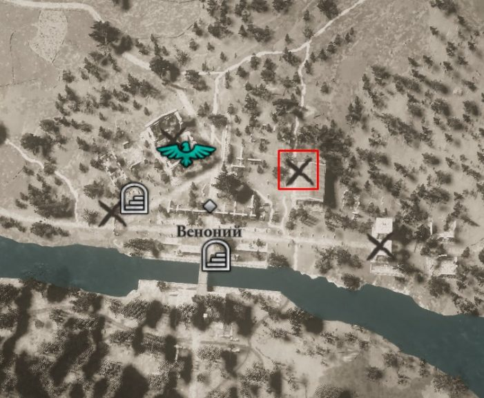 Местонахождение Щита храфна на карте мира Assassin's Creed: Valhalla