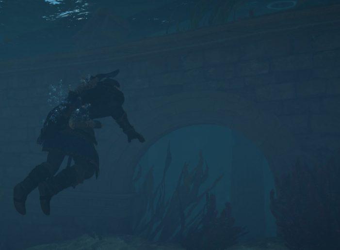 Вход в руины под водой