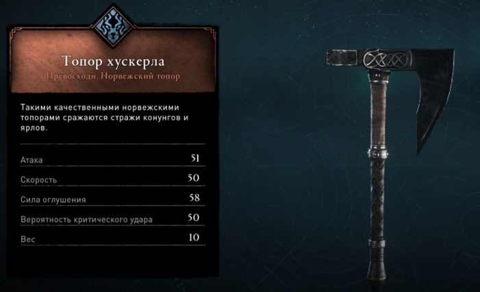 Топор хускерла в Assassin's Creed: Valhalla