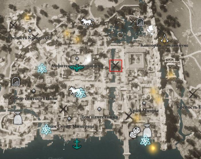Местонахождение Железной Тучи на карте мира Assassin's Creed: Valhalla