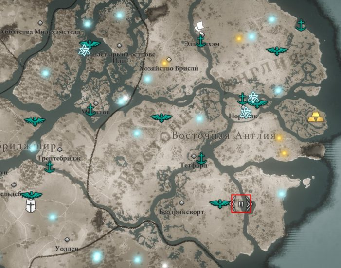 Аномалия в Восточной Англии на карте мира