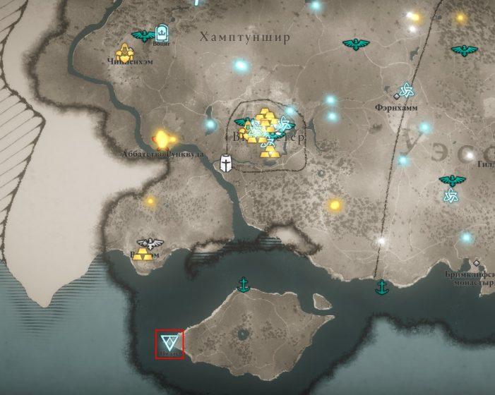 Аномалия в Хамптуншире на карте мира