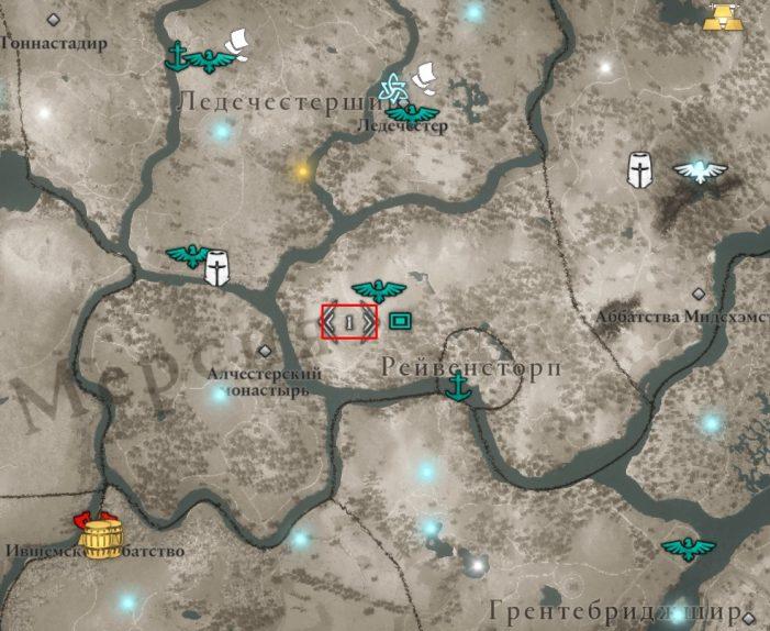 Аномалия в Ледечестершире на карте мира