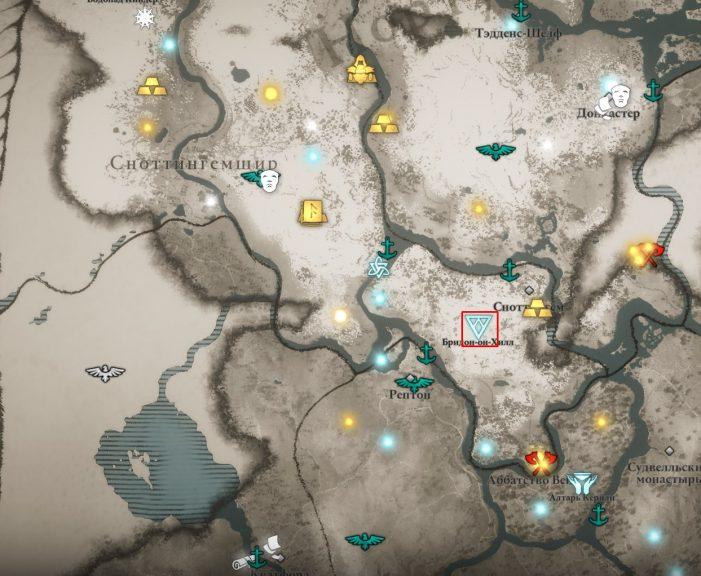 Аномалия в Сноттингемшире на карте мира