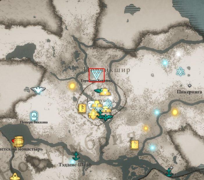 Аномалия в Йорвикшире на карте мира