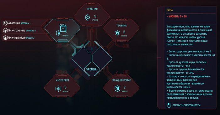 Сила в Cyberpunk 2077