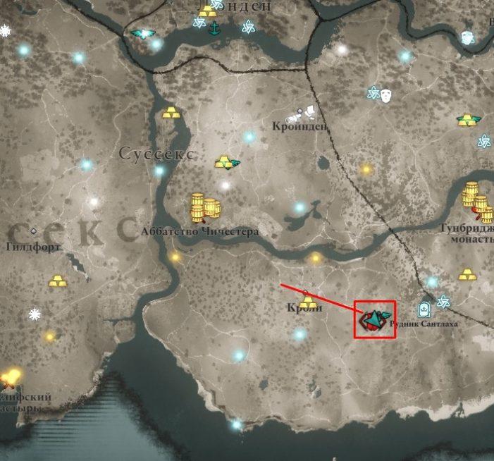 Ревнитель Хротгар на карте мира Assassin's Creed: Valhalla